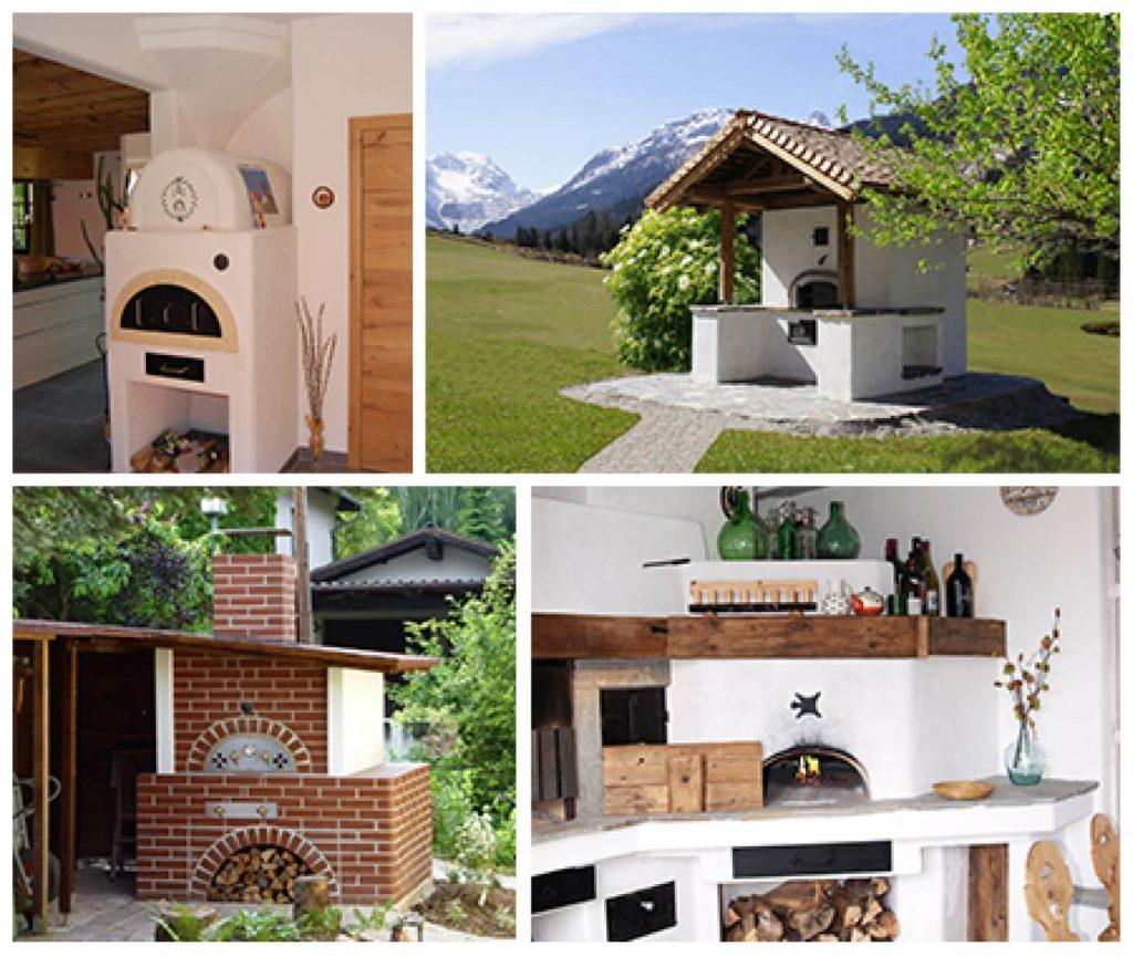 Vier Holzbacköfen
