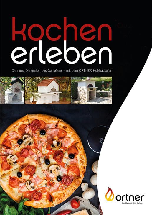 Magazin, auf der Titelseite Pizza und Öfen
